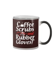 Nurse - Coffee Scrubbs and Rubber Gloves  Color Changing Mug thumbnail