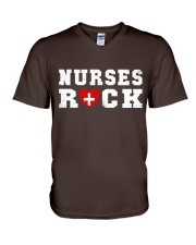 Nurses Rock V-Neck T-Shirt thumbnail