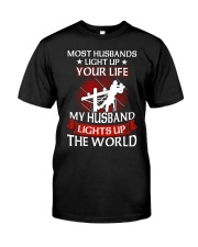 Lineman - Husband Light Up Classic T-Shirt front