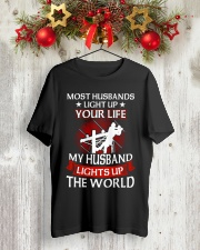 Lineman - Husband Light Up Classic T-Shirt lifestyle-holiday-crewneck-front-2