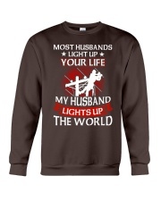 Lineman - Husband Light Up Crewneck Sweatshirt thumbnail