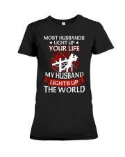 Lineman - Husband Light Up Premium Fit Ladies Tee thumbnail
