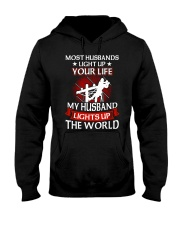 Lineman - Husband Light Up Hooded Sweatshirt thumbnail