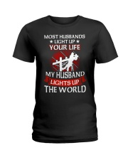 Lineman - Husband Light Up Ladies T-Shirt thumbnail