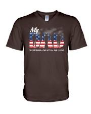 Veteran Dad - The Veteran - The Myth - The Legend V-Neck T-Shirt thumbnail