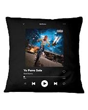 Bad Bunny - Yo Perreo Sola - La Muerte Bella Square Pillowcase thumbnail