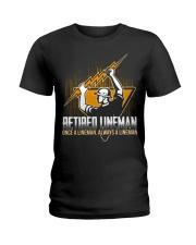 Retired Lineman Shirts Electrical Lineman Sweatshi Ladies T-Shirt thumbnail