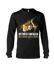 Retired Lineman Shirts Electrical Lineman Sweatshi Long Sleeve Tee thumbnail