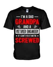 Mens Funny Retired Engineering Grandpa T-Shirt V-Neck T-Shirt thumbnail