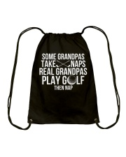 Funny Golfing Grandpa Golf Player Tshirt Drawstring Bag thumbnail