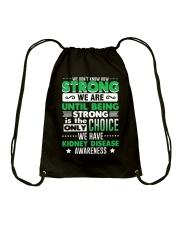 Kidney Disease Awareness Shirt  Drawstring Bag thumbnail