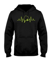 Pickleball Heartbeat Tee Pickleball Tee Hooded Sweatshirt thumbnail