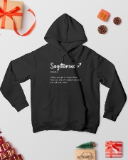 Sagittarius Definition VD001 Hooded Sweatshirt lifestyle-holiday-hoodie-front-2