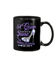A Queen Was Born In June Happy Birthday to Me Mug thumbnail