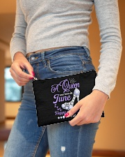 A Queen Was Born In June Happy Birthday to Me Accessory Pouch - Standard aos-accessory-pouch-8-5x6-lifestyle-front-05