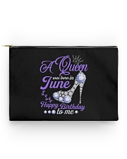 A Queen Was Born In June Happy Birthday to Me Accessory Pouch - Standard back