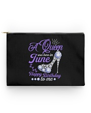 A Queen Was Born In June Happy Birthday to Me Accessory Pouch - Standard front
