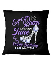A Queen Was Born In June Happy Birthday to Me Square Pillowcase thumbnail