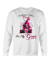 In October I Wear Pink For My Gigi Gnome Breast  Crewneck Sweatshirt thumbnail
