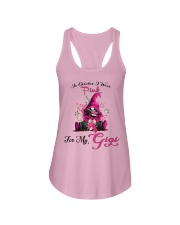 In October I Wear Pink For My Gigi Gnome Breast  Ladies Flowy Tank thumbnail