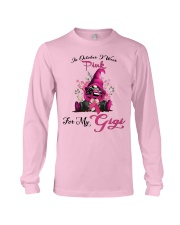 In October I Wear Pink For My Gigi Gnome Breast  Long Sleeve Tee thumbnail