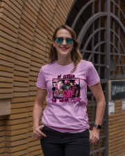 In October We Wear Pink Halloween Breast Cancer Ladies T-Shirt lifestyle-women-crewneck-front-2