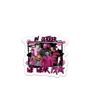In October We Wear Pink Halloween Breast Cancer Sticker - Single (Vertical) thumbnail