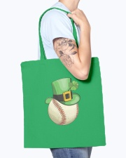Baseball Leprechaun Irish Shamrock St Patrick's  Tote Bag accessories-tote-bag-BE007-front-model-02