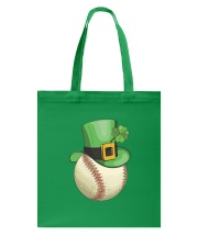 Baseball Leprechaun Irish Shamrock St Patrick's  Tote Bag back