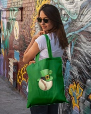 Baseball Leprechaun Irish Shamrock St Patrick's  Tote Bag lifestyle-totebag-front-1