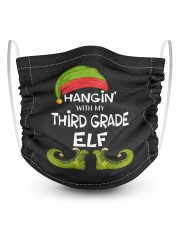 Hanging With My Third Grade Elf 2 Layer Kids Face Mask - Single thumbnail