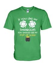 If You Like My Shamrocks - Unisex Shirt V-Neck T-Shirt thumbnail