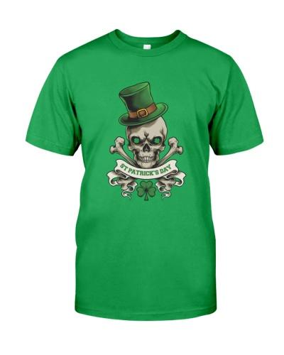 Funny Skeleton Skull Shamrock St Patrick's Day
