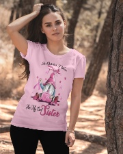 In October I Wear Pink For My Cool Sister Ladies T-Shirt apparel-ladies-t-shirt-lifestyle-06