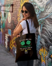 If You Like My Shamrocks St Patrick's Day Tote Bag lifestyle-totebag-front-1