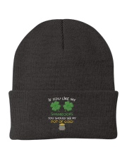 If You Like My Shamrocks St Patrick's Day Knit Beanie thumbnail