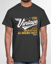 Vintage 1961 Age To Perfection Original Parts Classic T-Shirt garment-tshirt-unisex-front-03