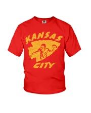 Kansas City Football Team Fans Youth T-Shirt thumbnail