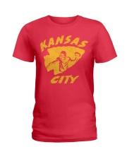 Kansas City Football Team Fans Ladies T-Shirt thumbnail