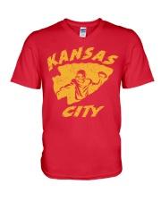 Kansas City Football Team Fans V-Neck T-Shirt thumbnail