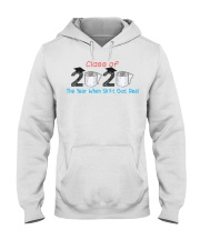 Class Of 2020 Graduate The Year When Shit Got Real Hooded Sweatshirt thumbnail