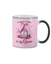 In October I Wear Pink For My Queen Color Changing Mug thumbnail