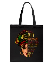 I'm A July Woman I Have 3 Sides Cute Birthday Gift Tote Bag thumbnail