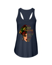 I'm A July Woman I Have 3 Sides Cute Birthday Gift Ladies Flowy Tank front