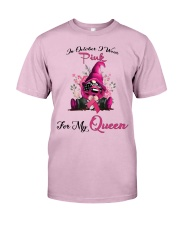 In October I Wear Pink For My Queen Gnome Breast  Classic T-Shirt thumbnail