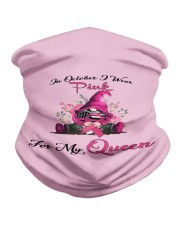 In October I Wear Pink For My Queen Gnome Breast  Neck Gaiter tile