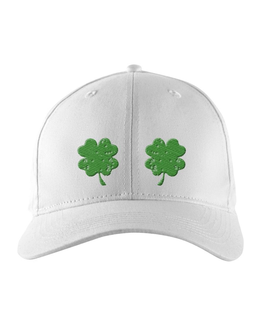 Vintage Irish Shamrock Boobs St Patrick's Day Embroidered Hat