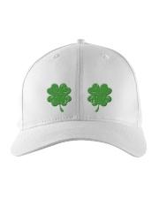 Vintage Irish Shamrock Boobs St Patrick's Day Embroidered Hat front