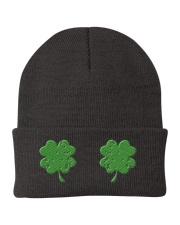 Vintage Irish Shamrock Boobs St Patrick's Day Knit Beanie thumbnail