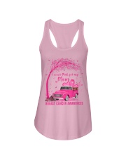 I Wear Pink For My Mom Breast Cancer Awareness  Ladies Flowy Tank thumbnail